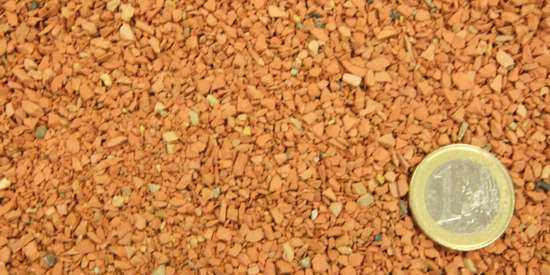 gravilla anaranjada llamada chamota o grancilla terracota