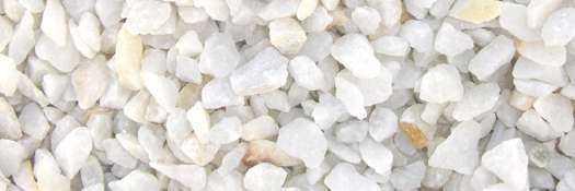 triturados y cantos rodados blancos macael