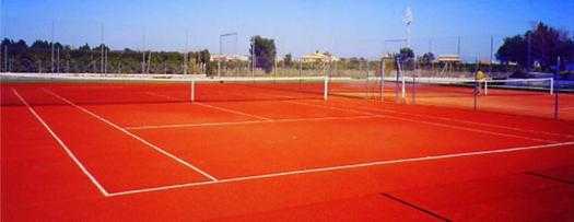 Court de tennis de Brique Pilée Orange