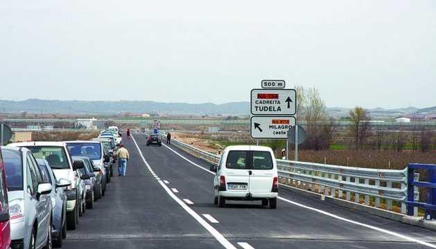 Variant road Milagro (Navarra) Spain