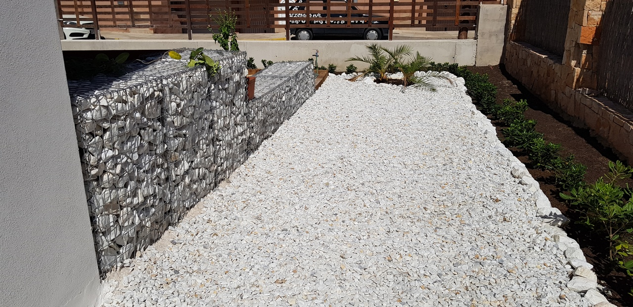 Piedra blanca para gaviones