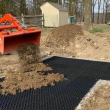 Modular gravel stabiliser soil soil stabiliser