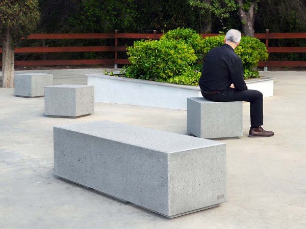 Park with granite bench area