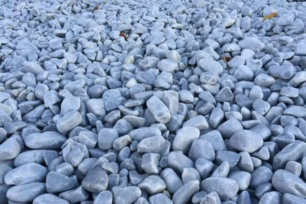 Grava gris azulada