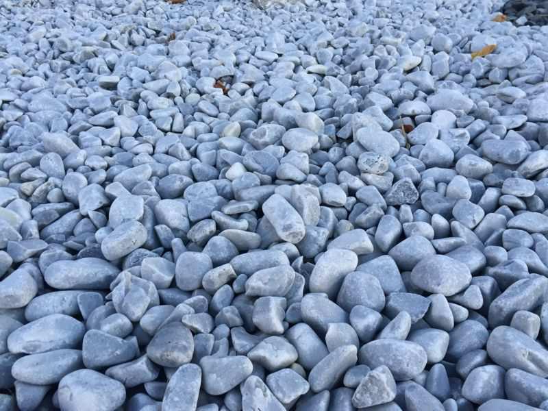 Galet Gris Bleu pour jardin, gravier decoratif gris bleu
