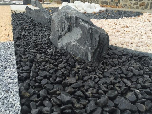 black pebbles spain