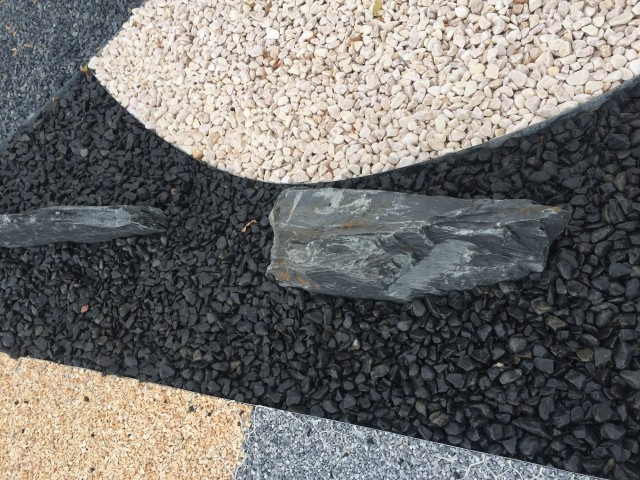 black polished pebbles from Spain