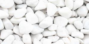 White pebbles, pebbles, white crushed stone