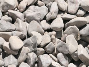 creme white pebbles