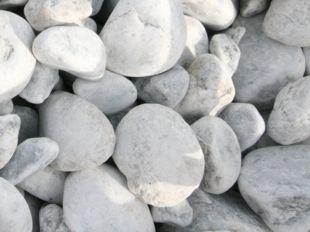 graviers blanc gris roule