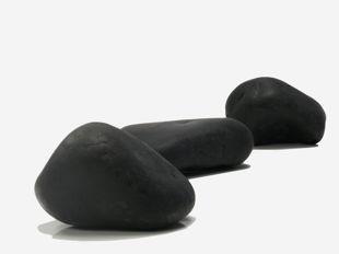 polished gravel, black polished gravel