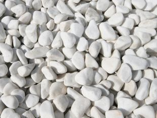 pure white pebbles