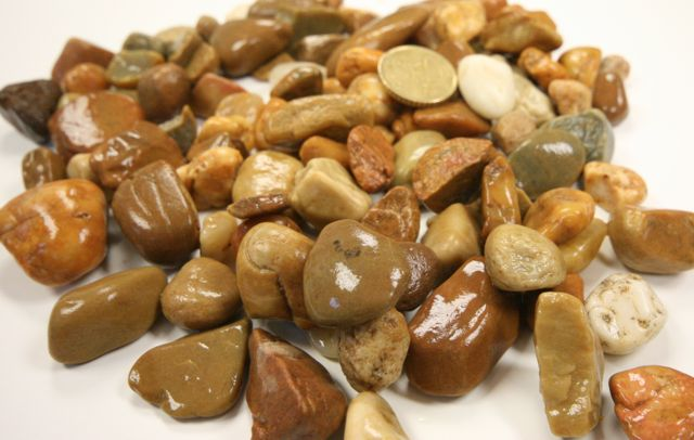 Wet Brown pebbles