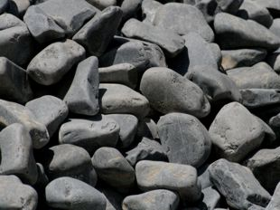 black pebbles and cobbles