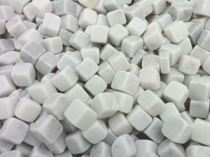 White marble dices
