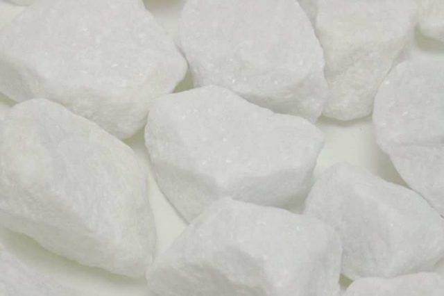 marmolina blanca, triturado blanco puro