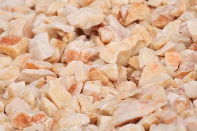 pink crushed gravel