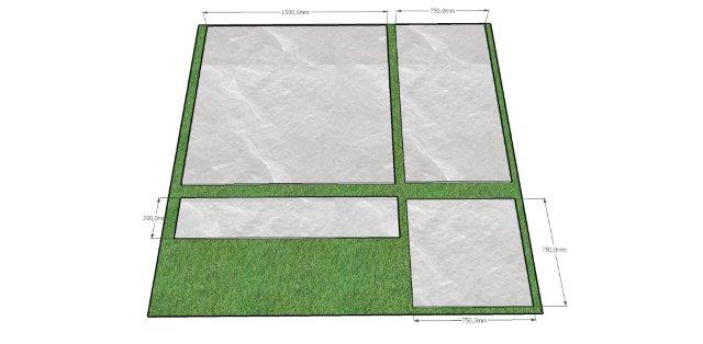 Garden slabs, big slab for garden,