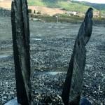 Monolithe flamme ardoise