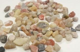 piedra de cuarzo multicolor apta para acuarios y peceras