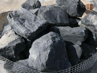 Roche concassée Noir, Basalte Noir, Pierre volcanique Noir