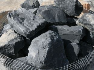 roca triturada negra basalto negro volcanica negra