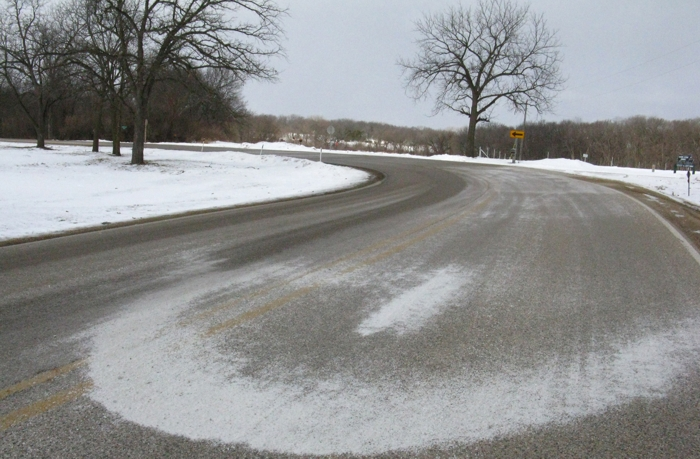 example about how can we spread salt on the road
