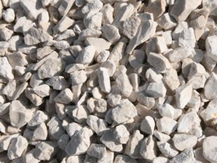 White creamy ivory decorative, Biege crushed gravel