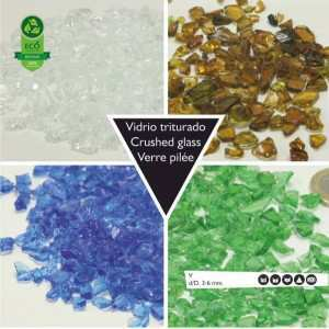 Crushed glass, recycling crushed glass